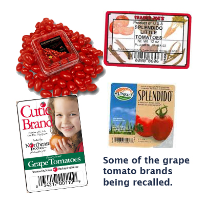 some of the tomato brands that have been recalled
